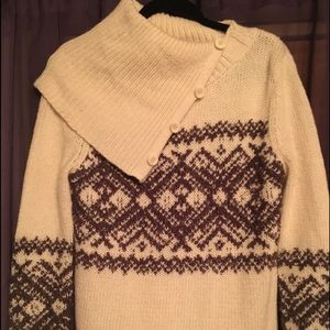 Button collar winter sweater (or summer nights)